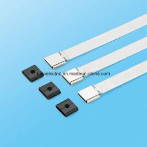 O-Verschluss Belüftung-überzogener Edelstahl-Kabelbinder für schützende Drähte