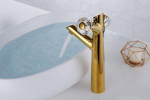 Tenlo acessórios de banho de alta qualidade da bacia de Ouro de latão batedeira torneira para lavar loiça -01A101K