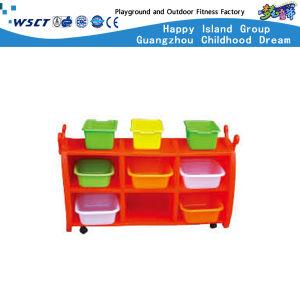 Los niños preescolares de alta calidad de muebles de almacenamiento de plástico para la venta (HB-04002)