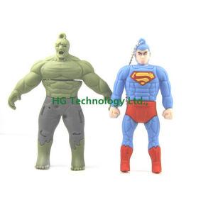 マンガのキャラクタのスーパーマンの形のギフトUSBのペンDrive/Customized USBのフラッシュ棒(HBU-137)