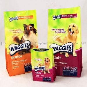 플라스틱 애완 동물 먹이 포장 부대를 위로 서 있으십시오