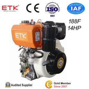 Ce & ISO9001 aprobada pequeño enfriado por aire de un cilindro de Motor Diesel