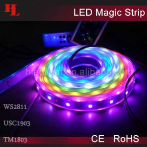 Magia RGB 5050SMD LED Strip Light con CE/RoHS Ws2811/Usc1903/TM1803