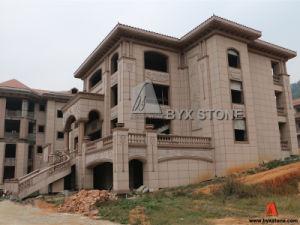 Het rode Afgietsel van de Bouw van het Graniet Architecturale voor het Project van de Villa