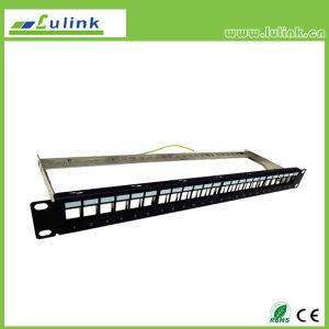 Patch panel Cat5e Cable Manager con la barra de 24 puertos