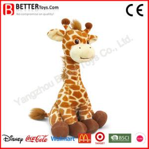 Giocattolo molle sveglio dell'animale farcito della peluche della giraffa En71 per il bambino