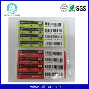Rasguño de papel modificado para requisitos particulares de la tarjeta de la recarga para el teléfono móvil