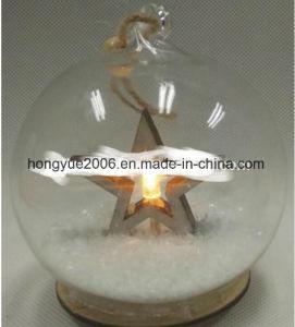 Omhoog het aansteken van Ornamenten van de Bal van het LEIDENE Glas van Kerstmis de Hangende