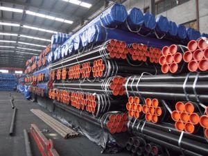 La vernice nera ha saldato i tubi d'acciaio neri ERW fatti in Cina