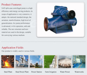 석유 화학 산업을%s 수평한 균열 케이스 슬러리 펌프