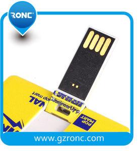 Preiswertes kundenspezifisches Firmenzeichen-Geschäfts-Kreditkarte USB-Blitz-Laufwerk 64GB