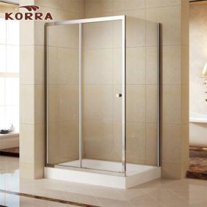 Sitio de ducha/recinto de la esquina con el vidrio Tempered (K-332)