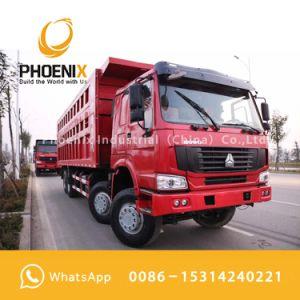 저가 아프리카를 위한 사용된 HOWO 덤프 트럭 팁 주는 사람 12 바퀴 375HP 40tons 양호한 상태