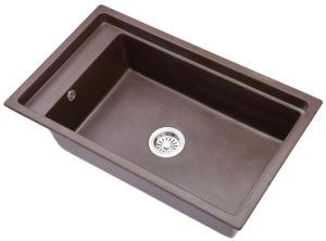 Salle de bain haut de la vanité lavabo en céramique / Pierre composite Quartz évier de cuisine