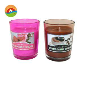 Vidro personalizado personalizada velas perfumadas votiva