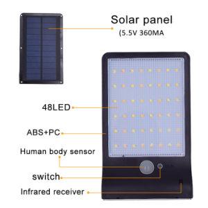 Белый и теплый белый 48 LED пульт дистанционного управления для наружного освещения пассивные инфракрасные детекторы движения датчик водонепроницаемый сад солнечного света