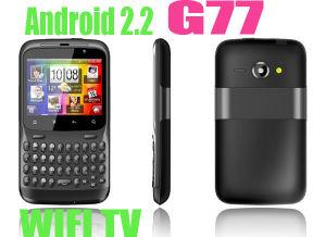 G77 o Android WiFi TV Java cartões SIM Dupla Telefone Teclado completo