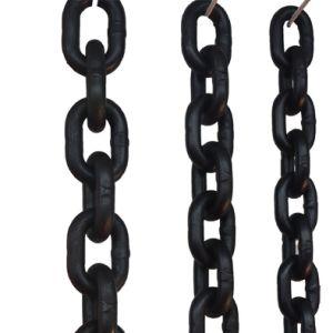 En818-2 Grado 80 de elevación de las cadenas de aleación de acero Negro 19mm