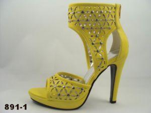 Rivet haut talon sandales d'amorçage (891-1)