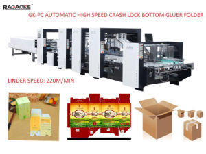 Boardcard y cartón ondulado de la máquina de encolado (GK-1800PC).