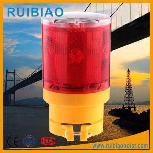 Rotes LED Sonnenenergie-Licht des Turmkran-