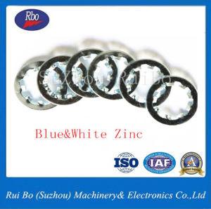 Le bleu et blanc de zinc j6797DIN dents internes Les rondelles/la rondelle de blocage
