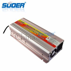 Suoer alta frecuencia de 220V 12V 2000W Inversor de potencia con cargador de batería (SUA-2000C)