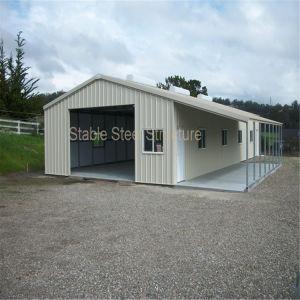 Estructura de acero prefabricados diseñados meticulosamente la construcción de viviendas residenciales