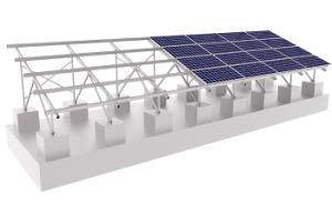 Plano de aleación de aluminio/estaño/Mosaico/azotea agudo/tierra/tierras de cultivo/Carport/Gases de Efecto/agricultura Energía Solar Fotovoltaica Soporte Bastidor de montaje