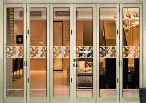 Diseño Gloriours Bifold de aluminio/puerta plegable