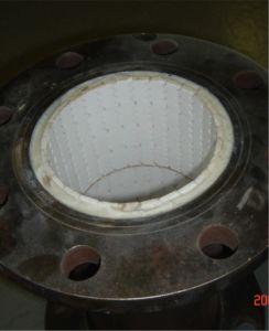 Tubo d'acciaio di ceramica dell'allumina di protezione di usura