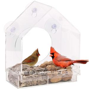 De grote Voeder van de Vogel van het Venster met de Gaten van het Afvoerkanaal & Veilige Verpakking