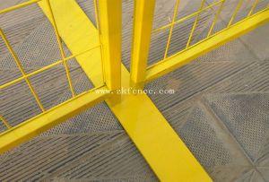 6つの' *9.5'カナダPVC粉によって塗られる溶接された金網の一時塀のパネル