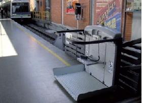 Escalera de plataforma de elevación, la inclina curvada Platfrom Levante
