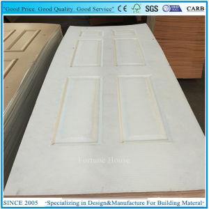 Dalle composite apprêtée porte en bois de la peau blanche