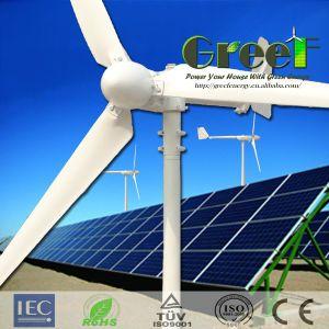5kw horizontaal het van-net en het op-netSysteem van de Turbine van de Wind van de As