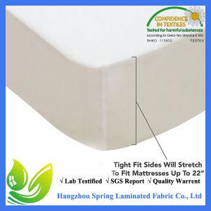China caliente de Venta al por mayor 100% 120gsm Jersey protector de colchón bambú