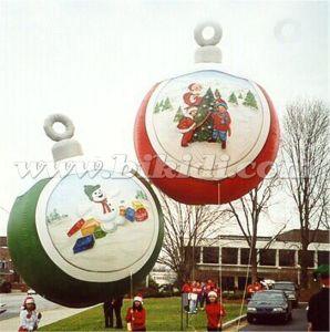Globo de Helio inflables Decoración de Navidad, una gran bola de nieve voladora K7141