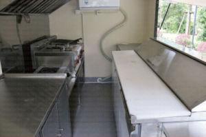 Rimorchio pranzante di bambù dello spuntino del veicolo della cucina della roccia della lava della cucina