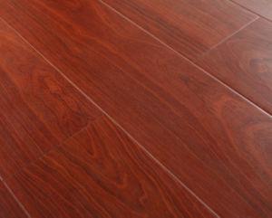 Ménage 12.3mm E0 haute brillance Cherry absorbant le son revêtement de sol stratifié