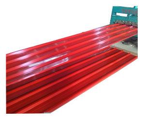 Ondulation de métal galvanisé prélaqué tôle de toit