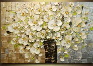 100% à la main de l'huile de fleur de la peinture La peinture de couteau (KVF-019)