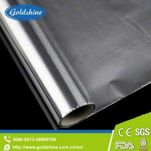 Половина жесткий характер алюминиевой фольги на наклейке бумаги