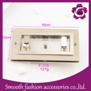 Commerce de gros sac de la mode en alliage métallique tourner le verrou du matériel d'accessoires de sac à main