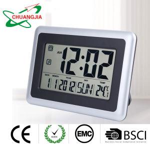 Grand bureau Horloge numérique avec fonction de répétition d'alarme de température intérieure