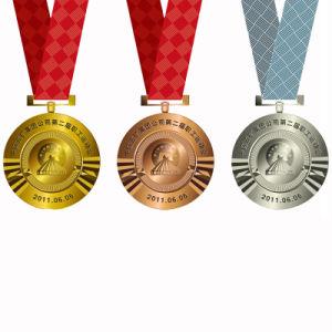주문을 받아서 만들어진 금 또는 구리 또는 은 물자 Laser에 의하여 새겨지는 까만 그림물감 금속 메달 (231)