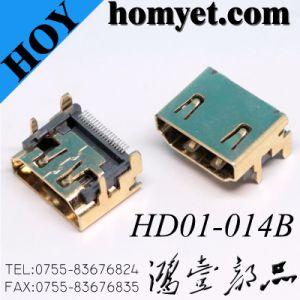 SMT 19broche femelle connecteur HDMI® pour PC/ordinateur portable/STB/TV/téléviseur HDTV/DV/Mid/mémoire amovible
