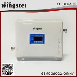 2018 de Hoogste Verkopende Repeater van het Signaal van de Band van het Signaal GSM/WCDMA Hulp Dubbele voor Mobiele 900/2100MHz met de Prijs van de Fabriek