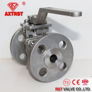Direct Mounting Pad를 가진 2PC Flanged Stainless Steel Ball Valve