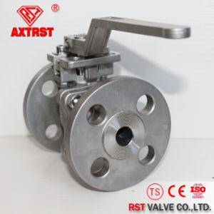 2PC ha flangiato valvola a sfera dell'acciaio inossidabile con il rilievo di montaggio diretto